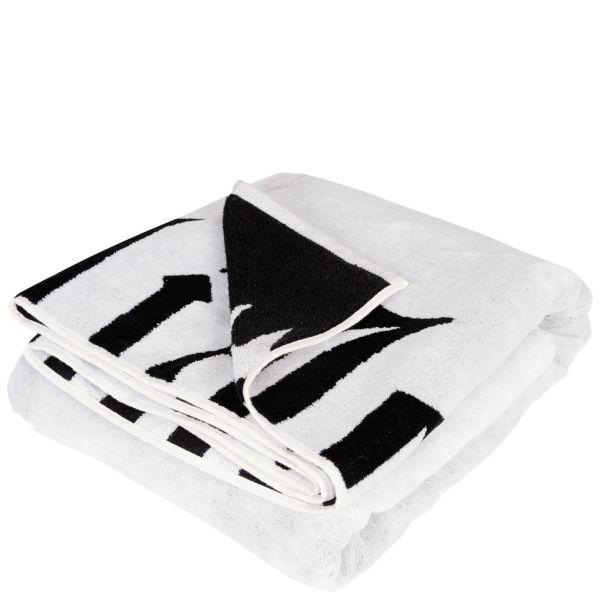 John Galliano Women S Logo Beach Towel Black And White