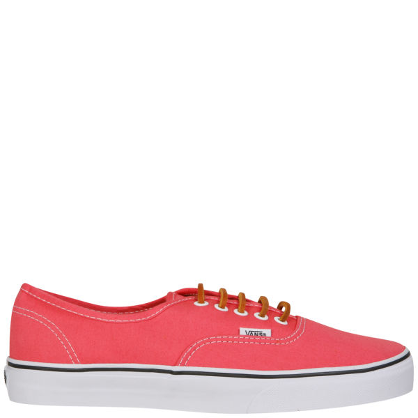 0bc8d4d625cd Vans Authentic Brushed Twill Trainer - Salmon True White  Image 1
