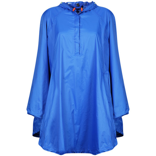 Ilse Jacobsen Womens Rain Poncho Blue Free UK Delivery Over 50