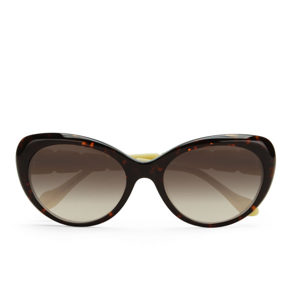 Vivienne Westwood Swarovski Temple Logo Sunglasses - Havana