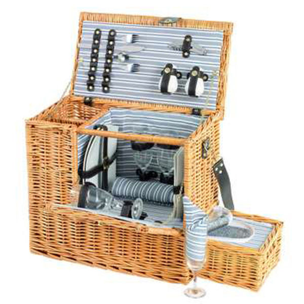 4 Person Picnic Basket Uk : Sandringham person picnic hamper with cooler tray iwoot