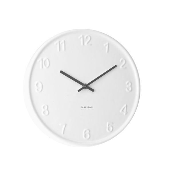 Ceramic Numbers Wall Clock White Homeware Thehut Com