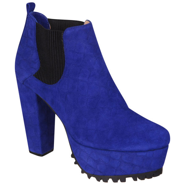 Senso Women's Rex Heeled Ankle Boots - Blue