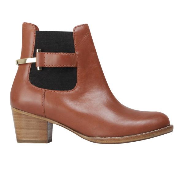 Ted Baker Women's Jureo Leather Short Shaft Boots - Dark Tan