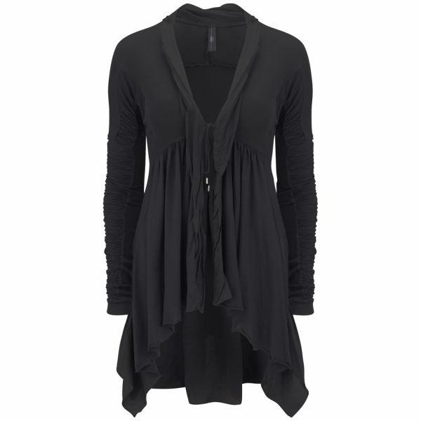 HIGH Women's Let Loose Jersey Flared Cardigan - Black