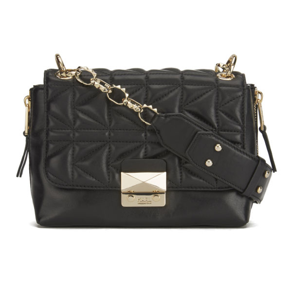 Karl Lagerfeld K/Kuilted Mini Handbag - Black/Gold