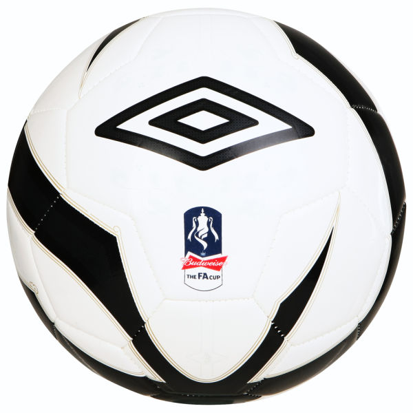 Umbro FA Cup Football White/Black/Gold