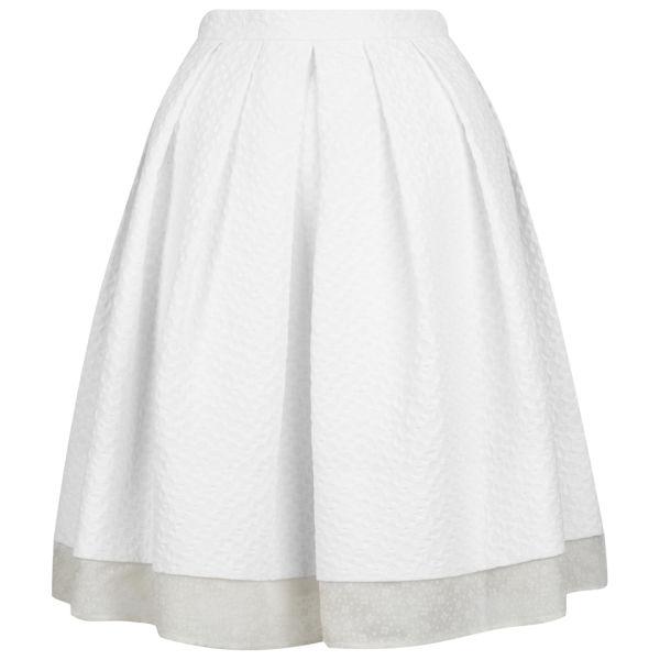 Orla Kiely Women's Pleated Skirt - Chalk