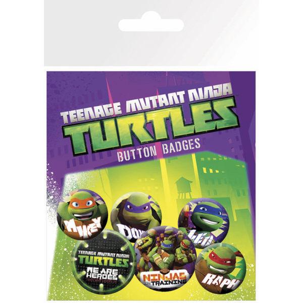 Lot de Badges Teenage Mutant Ninja Turtles Heroes - Tortues Ninja