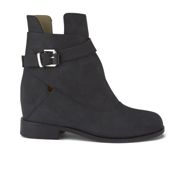 Thakoon Addition Women's Fiona1 Buckle Leather Boots - Black