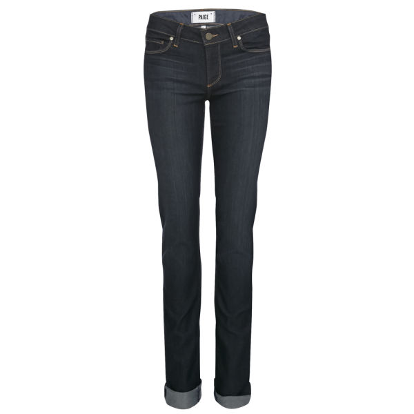 Paige Women's Skyline Mid Rise Straight Jeans - Stream