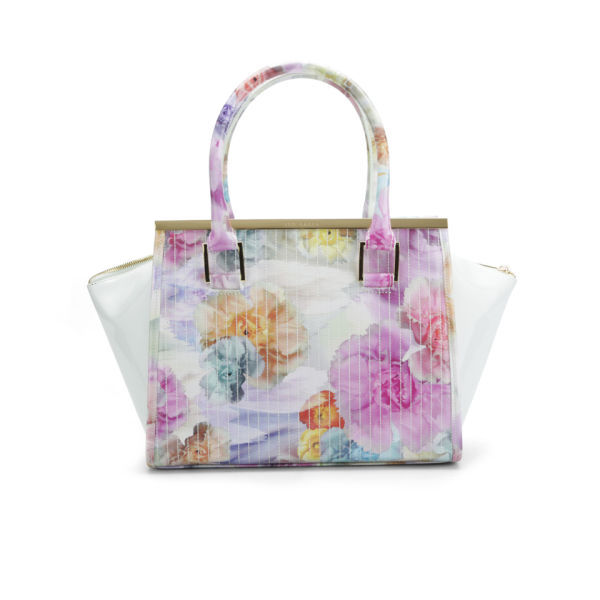 Ted Baker Women S Kerie Floral Print Metal Bar Wing Tote