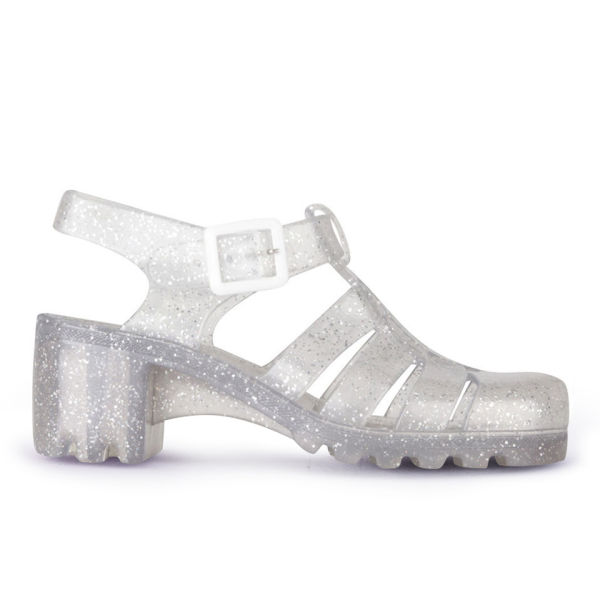df713ec79880 JuJu Women s Babe Heeled Jelly Sandals - Multi Glitter