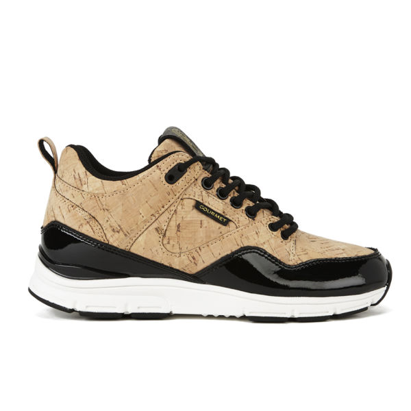 Gourmet Women's 35 Lite Cork LX Trainers - Gold Cork/Black
