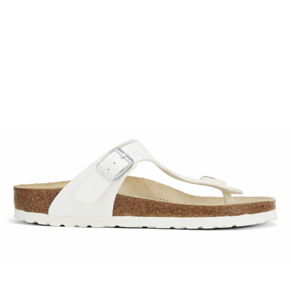 Birkenstock Women's Gizeh Toe-Post Leather Sandals - White