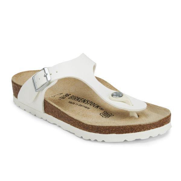 50b5622a7fd5 Birkenstock Women s Gizeh Toe-Post Leather Sandals - White  Image 5