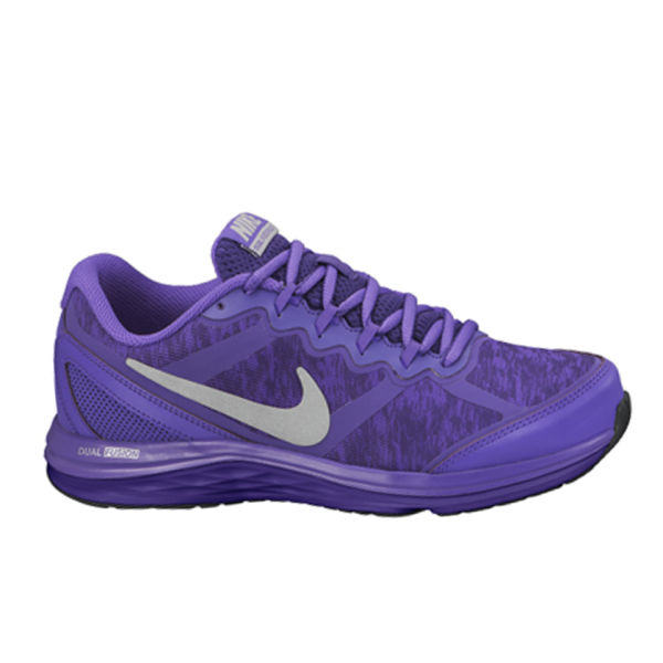 Nike Women's Dual Fusion Run 3 Flash Dynamic Support Running Shoes - Court  Purple/Silver