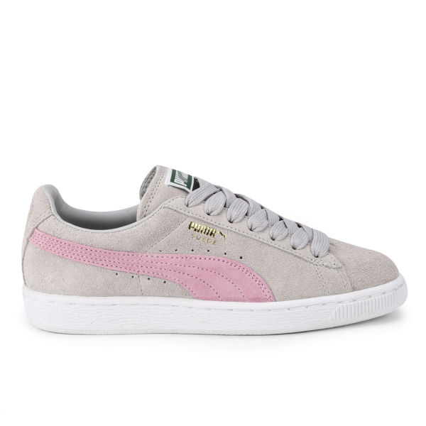 9f649477b85b Puma Women s Suede Classics Pastel Trainers - Grey Pink  Image 1