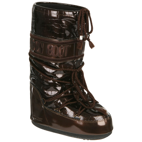 moon boot s crocodile boots brown free uk