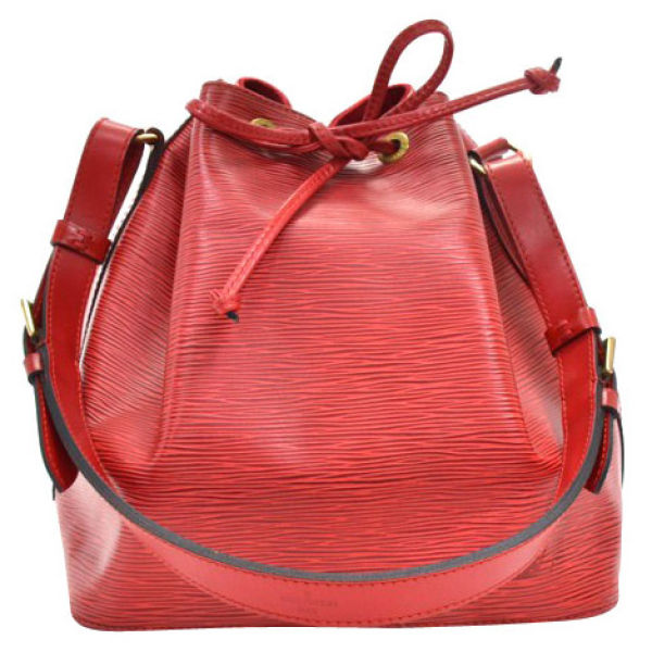 Louis Vuitton Vintage Red Epi Leather Noe Petit Red Shoulder Bag ...