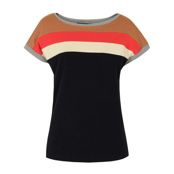 Marc by Marc Jacobs Women's 615 Carrie Colourblock General Jersey Top - Navy