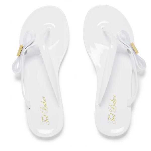Ted Baker Women's Hatha Bow Flip Flops - White