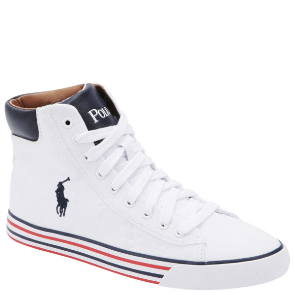 5dafb3922d70aa Polo Ralph Lauren Men s Harvey Mid-Ne Hi-Top Trainers - Pure White ...