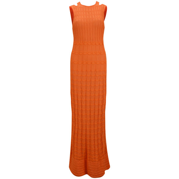 M Missoni Women's Knitted Maxi Dress - Orange