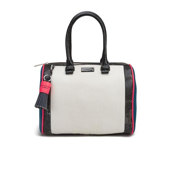 Paul s Boutique Molly Snake Colour Block Bowler Bag - White  Image 1 bc7881a6257a1