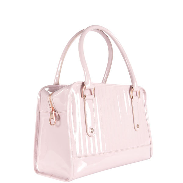 Ted Baker Allan Pvc Quilted Midi Bowler Bag Pink Image 2