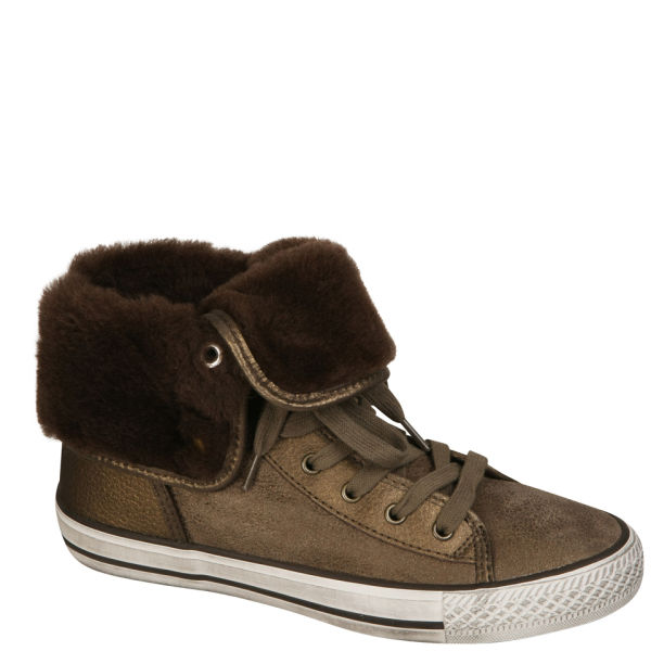 Ash Women's Vanna Fur Hi-Tops - Bronze