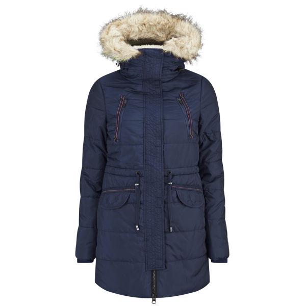 Vero Moda Women's Polly Parka Coat - Black Iris Womens Clothing ... 3f2e6a6762bd