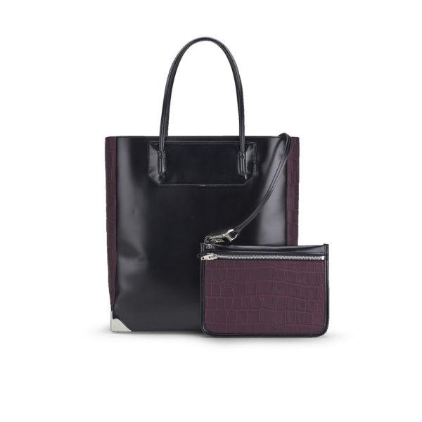 Alexander Wang Prisma Leather Tote Bag - Black/Burgundy