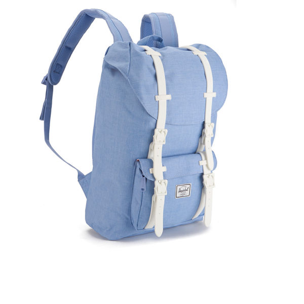 28226d6a82a Herschel Supply Co. Women s Little America Mid Volume Backpack - Chambray  Crosshatch White Rubber