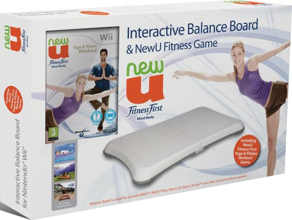 new u fitness yoga and pilates balance board nintendo wii zavvi. Black Bedroom Furniture Sets. Home Design Ideas
