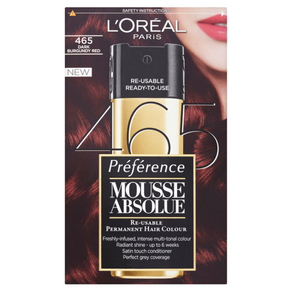 L\'Oreal Paris Preference Mousse Absolue - 465 Dark Burgundy Red | HQ ...