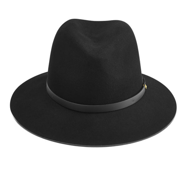 rag & bone Women's Floppy Brim Fedora - Black