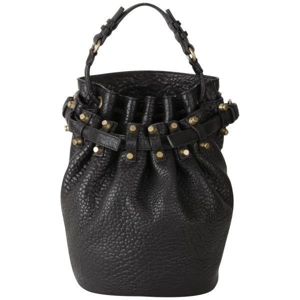 Alexander Wang Diego Pebbled Leather Bag - Black/Gold