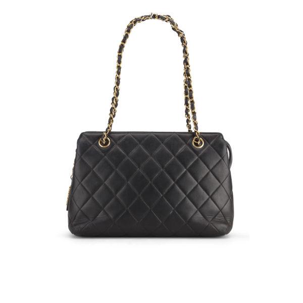 Chanel Quilted Leather Shoulder Bag - Black