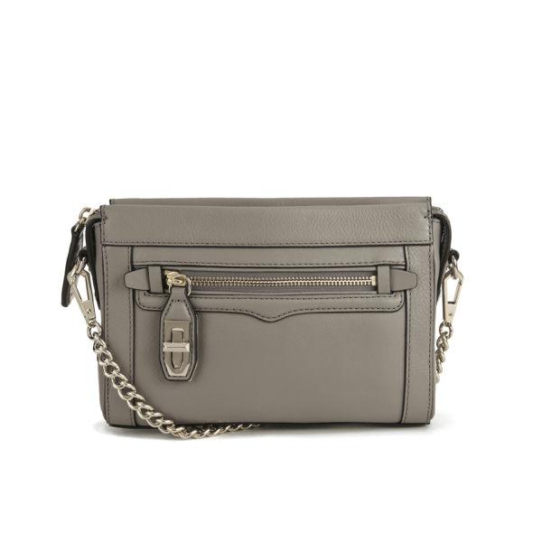 Rebecca Minkoff Mini Crosby Leather Cross Body Bag - Taupe