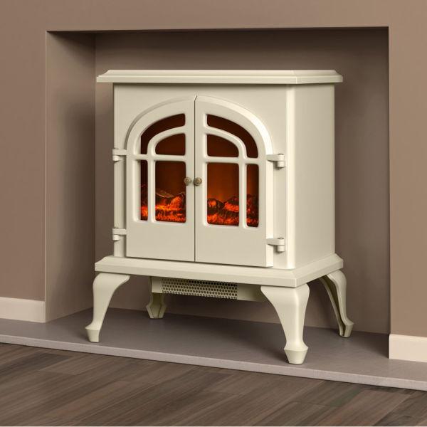 Warmlite 2000w Log Effect Stove Fire Cream Homeware