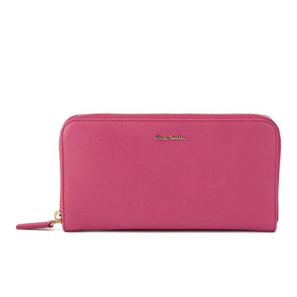 Paul Smith Accessories Women S Large Zip Around Purse Pink Image 1