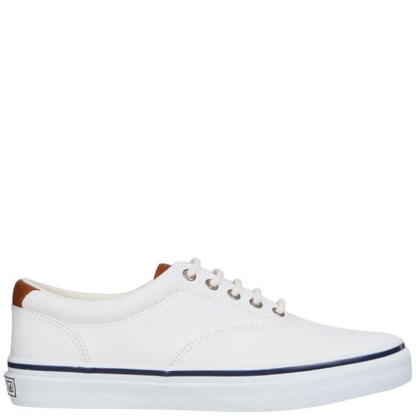 Sperry Men's Striper Canvas Shoe - White