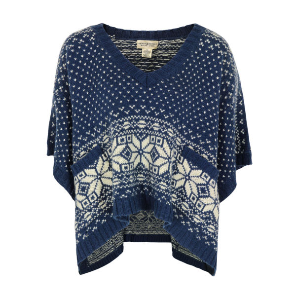 Denim & Supply - Ralph Lauren Women's Knit Poncho - Navy & Cream