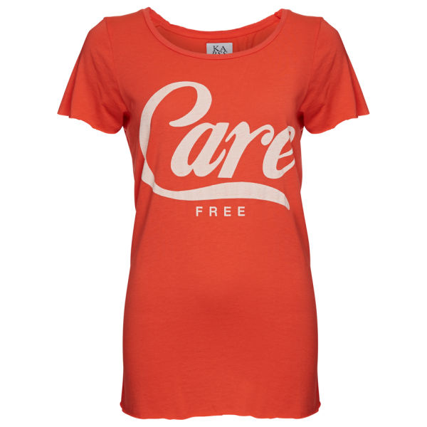 Zoe Karssen Women's Care Free Loose Fit Short Sleeve T-Shirt - Hot Coral