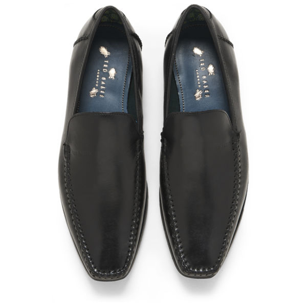 ted baker s bly 6 leather slip on shoes black free
