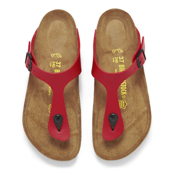 4c0de13fbc3 Birkenstock Women s Gizeh Toe-Post Leather Sandals - Cherry  Image 2