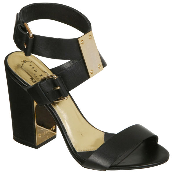 Ted Baker Women's Lissome Block Heeled Sandals - Black Leather