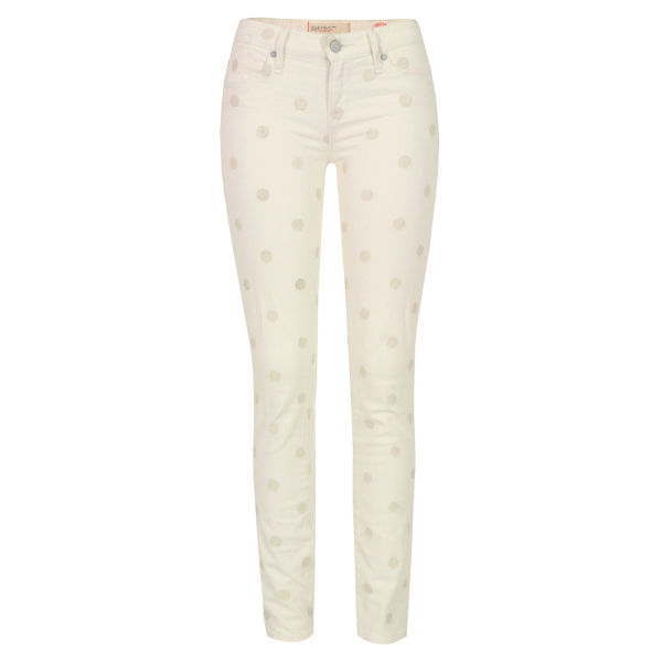 Marc by Marc Jacobs Women's Lou Bright Dot Skinny Jeans - White