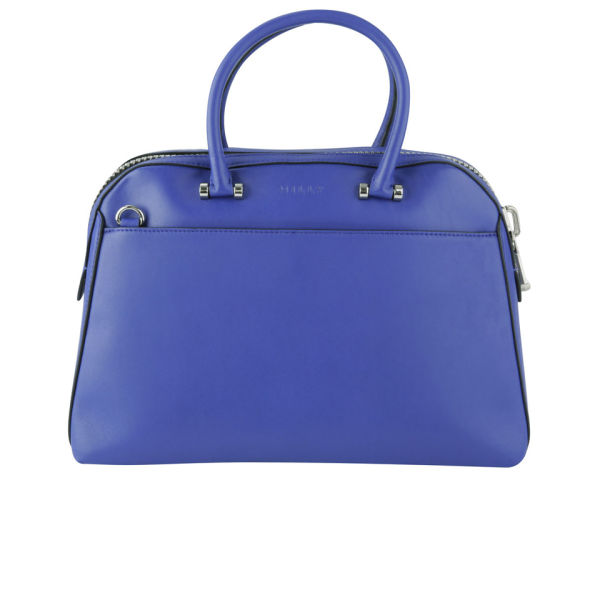 MILLY Blake Medium Kettle Leather Tote Bag - Blue
